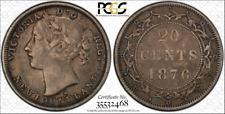 1876-H  Newfoundland 20 Cents   PCGS VF 35