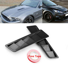 2x Universal Carbon Fiber Look Style Hood Vent Body Louver Cooling Panel Kit ABS