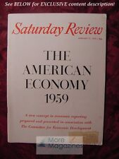Saturday Review January 17 1959 AMERICAN ECONOMY GEORGE ROMNEY T. V. HOUSER