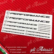 Set 13 Adesivi DUCATI Performance New Panigale moto Nero su trasparente