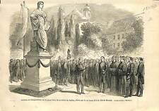Inauguration Statue Goethe Munich Munchen Germany Ludwig II Bayern 1869