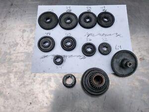 """Atlas 618 Craftsman 101 6"""" Lathe M6 Change Gear Parts Lot"""