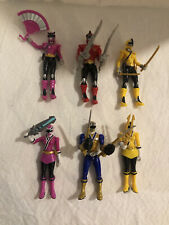 power rangers samurai 4 inch lot of 6