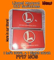 Lionel Left & Right O Scale Manual Switches 6-65021 & 6-65022 track lot 1024 L&R