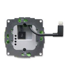 sCharge L - USB Unterputz Ladegerät mit Lightning Kabel