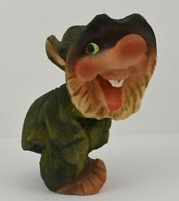 Cute Vintage Henning Norway Wooden Carved by Hand Cheeky Troll
