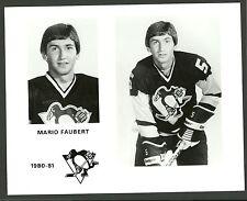 Mario Faubert 1980-81 Pittsburgh Penguins 8 x 10 Hockey Press Photo