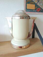 Jolie Cafetière électrique  Vintage Années 50 beige & rose Design Streamline