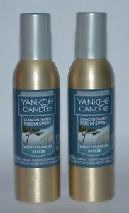 2 YANKEE CANDLE MEDITERRANEAN BREEZE CONCENTRATED ROOM SPRAY PERFUME FRESHENER