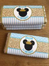 Prince Mickey Custom Chocolate Wrappers - Baby Shower, Birthday, Christening