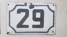 Enamel porcelain number 29 street house sign # 29 vintage ISRAELI SALE !