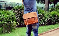 Messenger Laptop Men's Genuine Leather Vintage  Handmade Briefcase Bag Satchel