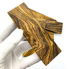 2pcs Mexico Golden Wood Knife Handle Material Scales Slabs Blade Bush Gun Making