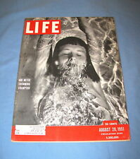 LIFE MAGAZINE AUG 20 1951 AIR FORCE PLANE BELL X-5 AMERICAS CUP ITALIAN FASHION
