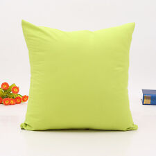 Multicolor Solid Pillow Case Polyester Cushion Cover Decorative Home Sofa Throw