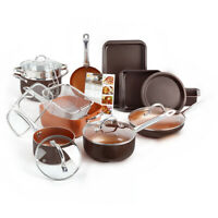 Healthy Non-Stick Copper Induction Bottom Frying Pan Kitchen Cookware Set NEW!