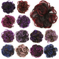 Women's Curly Hairpiece Scrunchies Elastic Band Ponytails Holder Heat Resistant