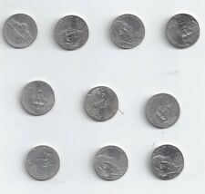 Lot of 10 New Obverse Nickels Restored Monticello on reverse 2006D - 2017P