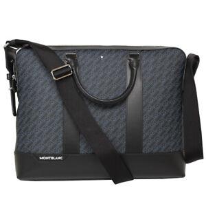 Montblanc 127409 M_Gram 4810 Slim Leather Blue / Black Document Case MB127409