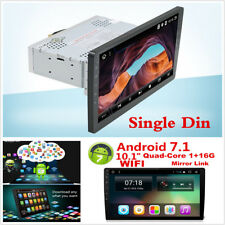 10.1 in (environ 25.65 cm) Android 7.1 Single DIN Car GPS Navigation WIFI In Dash Stereo Radio HD