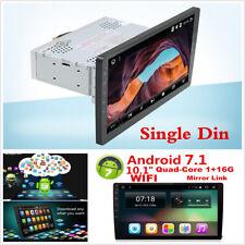 10.1 pulgadas Android 7.1 SINGLE DIN para coche gps navegación Wifi En Tablero Radio Estéreo HD