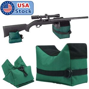 US Shooting Range Sand Bag Set Rifle Gun Bench Rest Stand Front Rear Bag Hunting