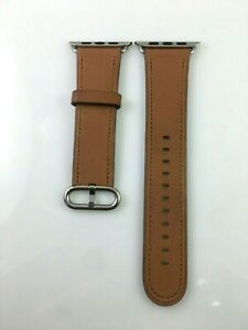 Genuine Apple Watch 42mm 44mm Classic Buckle leather band Saddle Brown 3rd Gen