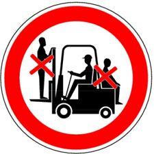 Aufkleber Mitfahren auf Gabelstapler verboten 200mm
