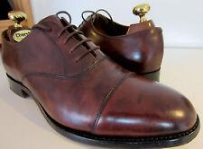 Barker Fine English Burnished Conker Oxford cap Shoes UK 8 EU 42 F Width