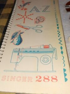 Vintage Singer Model 288 Sewing Machine Manual, Parts and Stitch Cams!