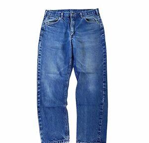 Vintage Carhartt Pants 36x30 Denim Logger Faded Work Jeans