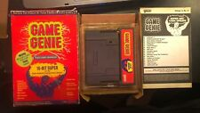 Game Genie for Super Nintendo SNES Galoob with Box and Volume 2 Code Update No 2