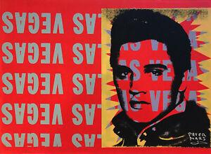 Peter Mars Elvis Presley Las Vegas Art Red Rockstar Movies Music Icon Legend