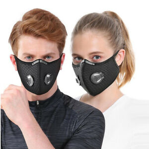 Mouth-muffle Face Shield Protective Anti Haze Fog Mouth Cover w/ 5 Layer Filter