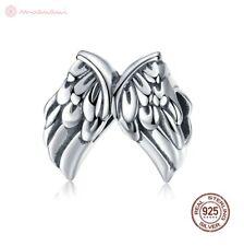 Charm Anhänger w.f. Pandora Engel Flügel Wings Federn Perle 925 Sterlingsilber
