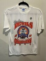 Vintage New Jersey Devils NHL Stanley Cup Champions Deadstock Large Tshirt NWOT