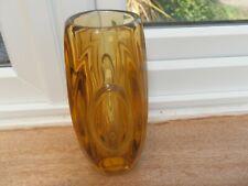 More details for retro czech lens / bullet vase sklo 50's 15 cm gorgeous suit mid century home