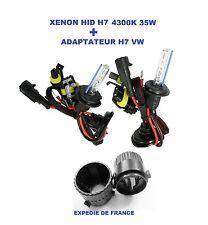 ADAPTATEUR + AMPOULES VW GOLF 6 XENON HID H7 35W 4300K