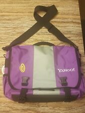 Yahoo TimBuk2 Messenger Laptop Bag Purple and Gray