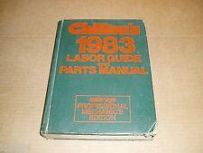 1980 1981 1982 1983 Chrysler Cordoba Camaro Ford Pontiac service parts manual