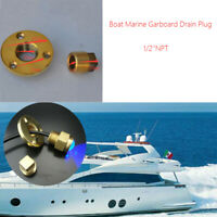 Boat Garboard Drain Bung,Drain Plug 50MM Brass Boat Chandlery// Boat Dingy