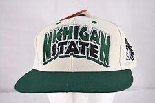 Michigan State Spartans White/Green Baseball Cap Snapback