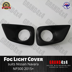 Fog Light Cover Trim Matte Black to suit Nissan Navara NP300 2015+