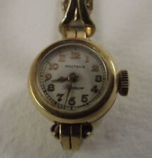Vintage Waltham Premier Ladies Watch 14K solid Gold Bezel Spiedel Flex Band