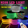 220V 10m RGB LED Strip Light Neon Flex Rope Waterproof Tape 5050 Remove