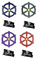 Kids Climbing Frame Pirate Wheel available in 4 Colours Plus a FREE Pirate Flag