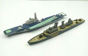 LOT 1976 Matchbox Sea Kings K304 Aircraft Carrier & K301 Frigate K305 Subchaser