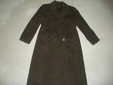 JONES NEW YORK WOMENS COAT LONG BROWN WOOL MOHAIR 8