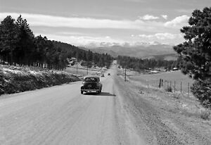 "1941 Highway from Denver to Idaho Springs, Colorado Old Photo 13"" x 19"" Reprint"
