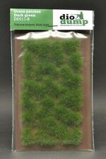 DioDump DD011-B 6mm realistic grass patches DARK GREEN  diorama scenery